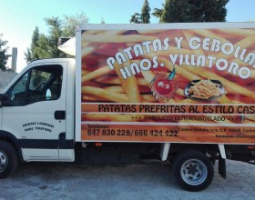Rotulación Camión Hnos. Villatoro